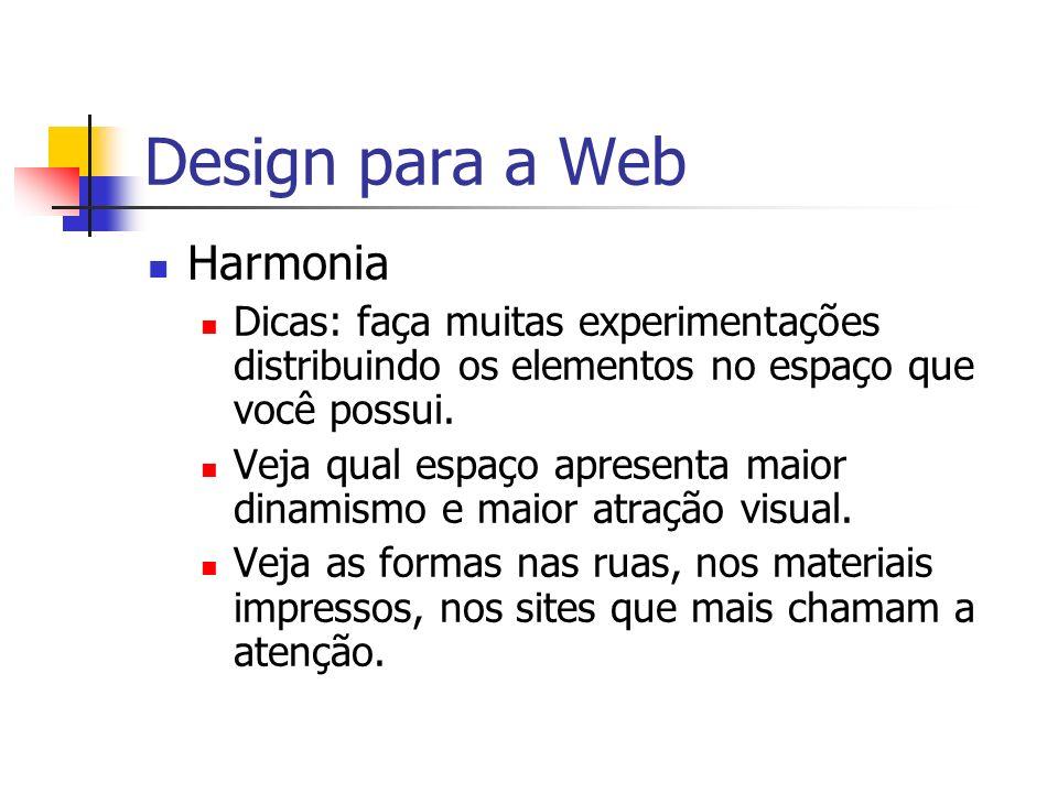 Design para a Web Harmonia