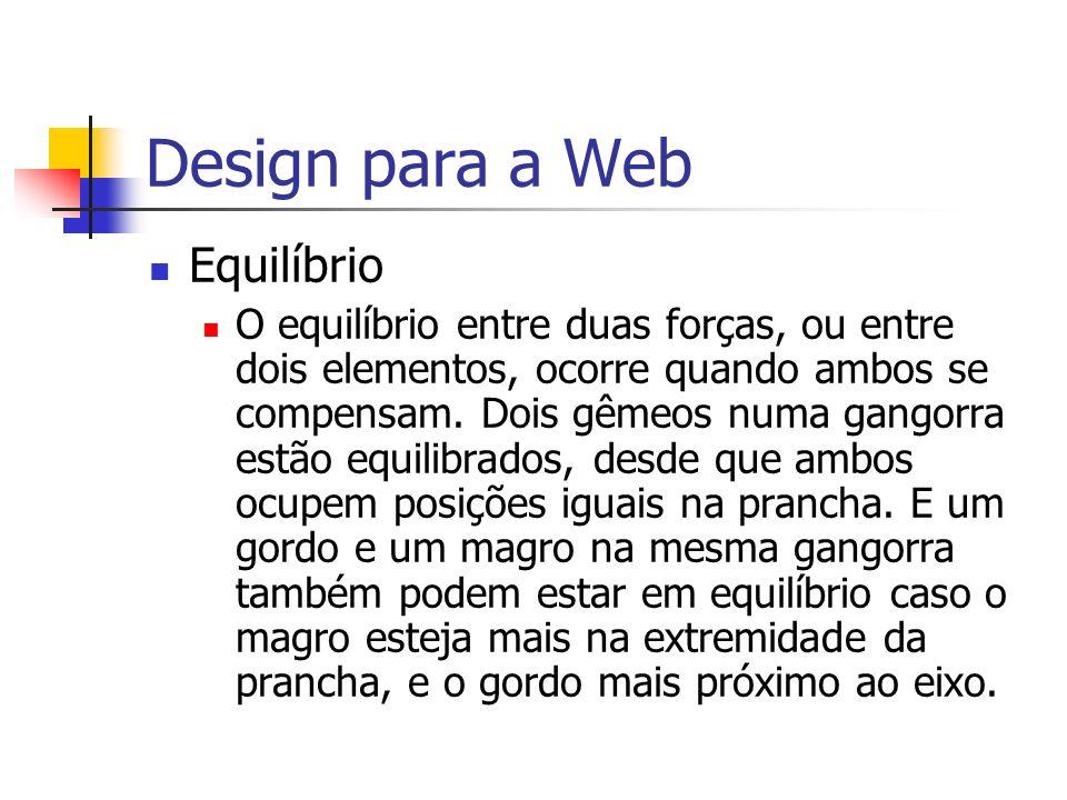 Design para a Web Equilíbrio
