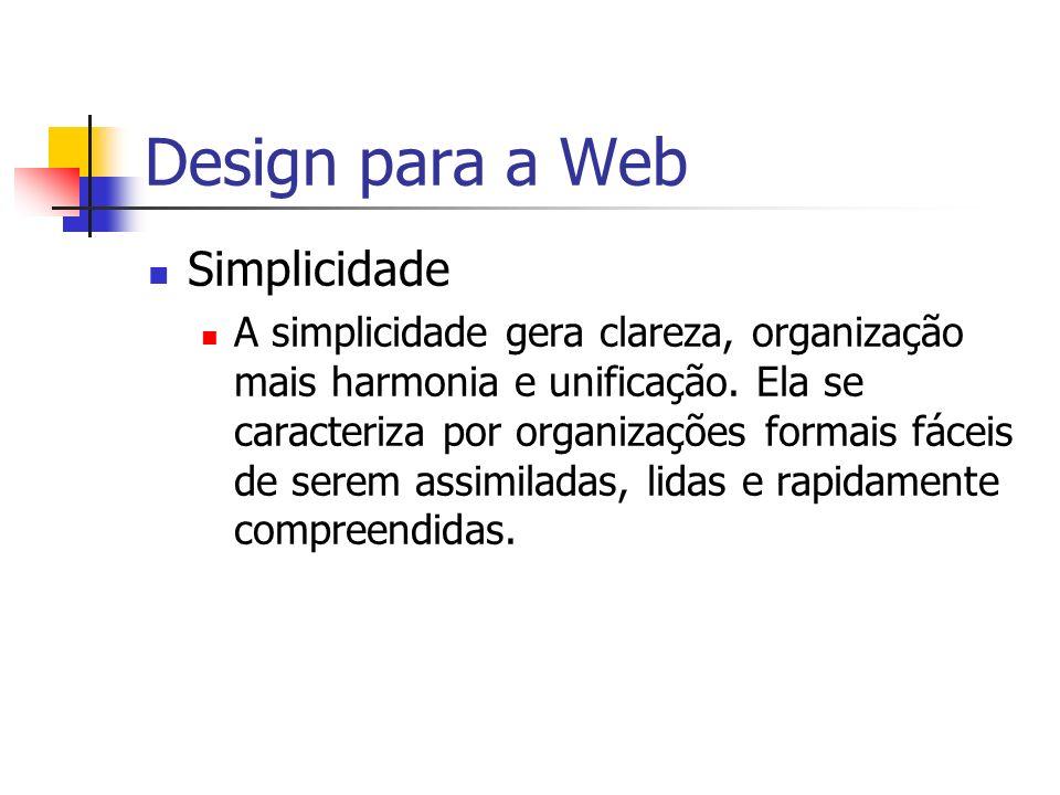 Design para a Web Simplicidade