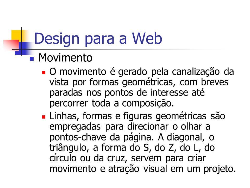 Design para a Web Movimento