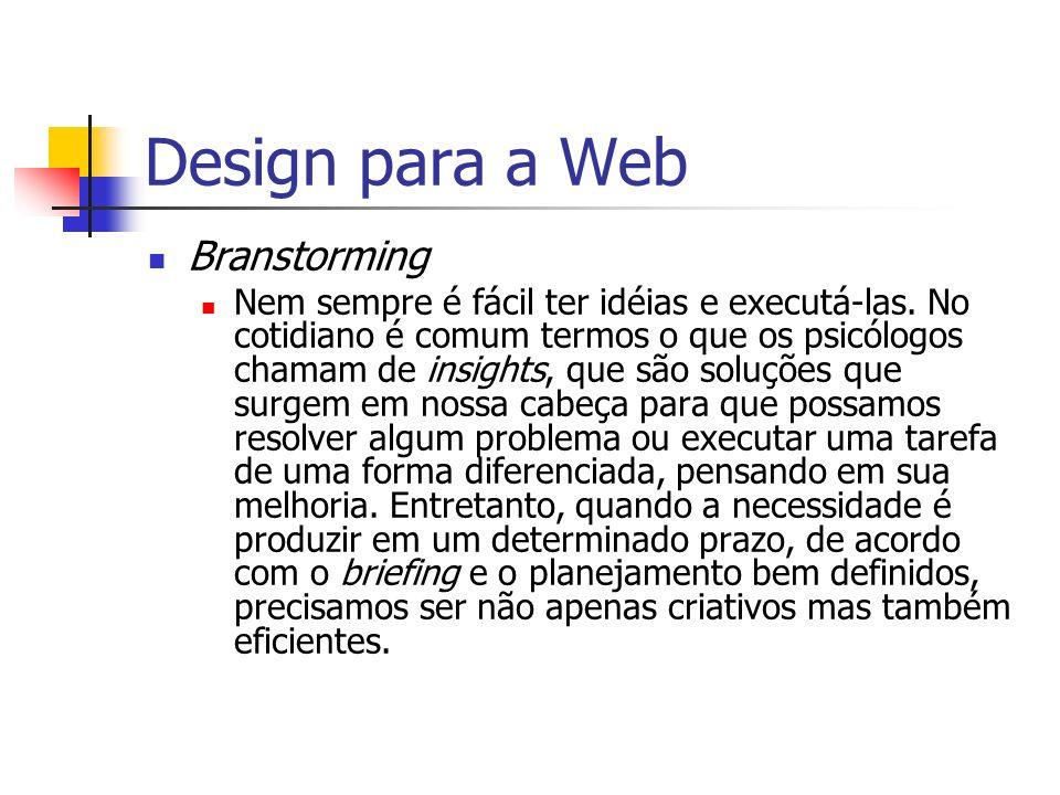 Design para a Web Branstorming