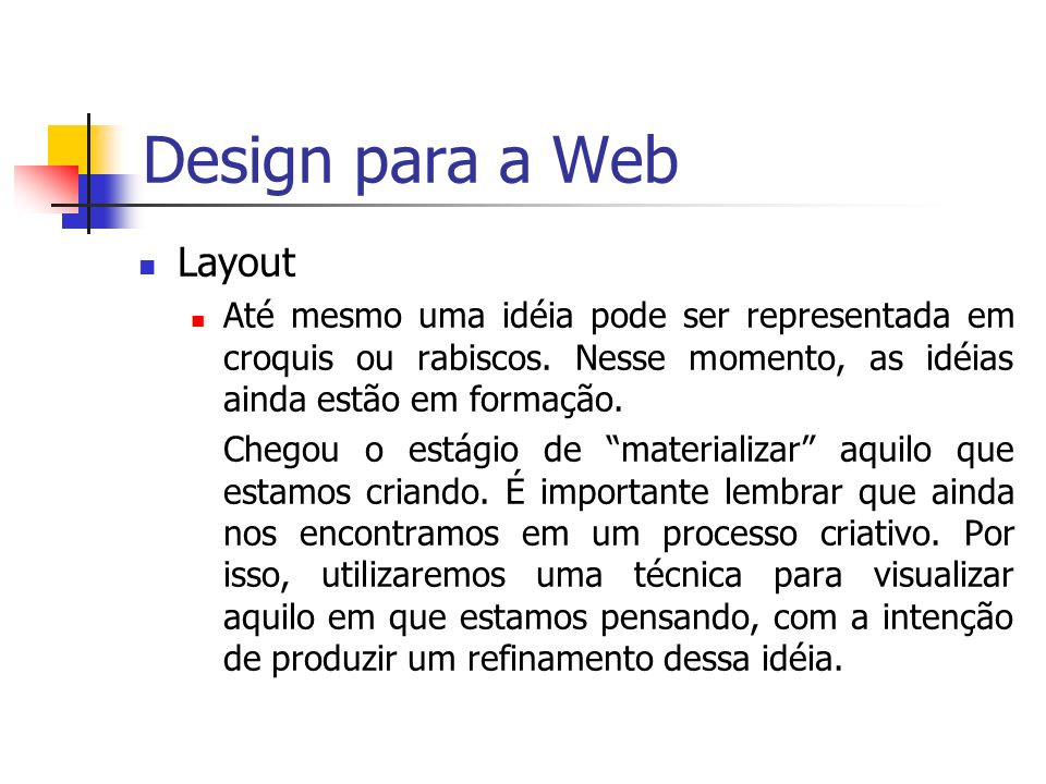 Design para a Web Layout