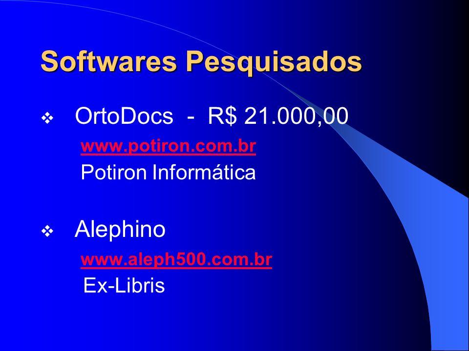 Softwares Pesquisados