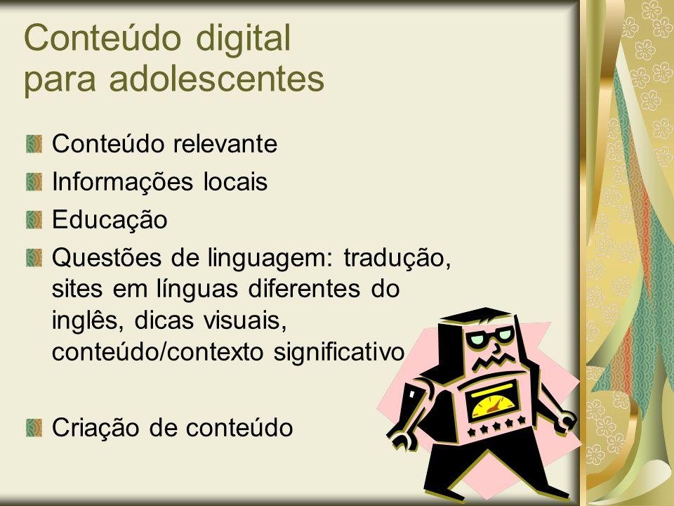 Conteúdo digital para adolescentes