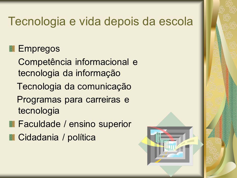 Tecnologia e vida depois da escola
