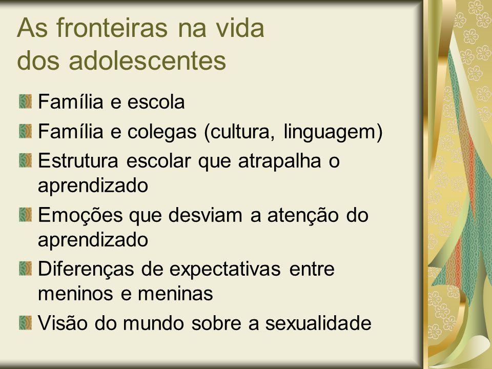 As fronteiras na vida dos adolescentes