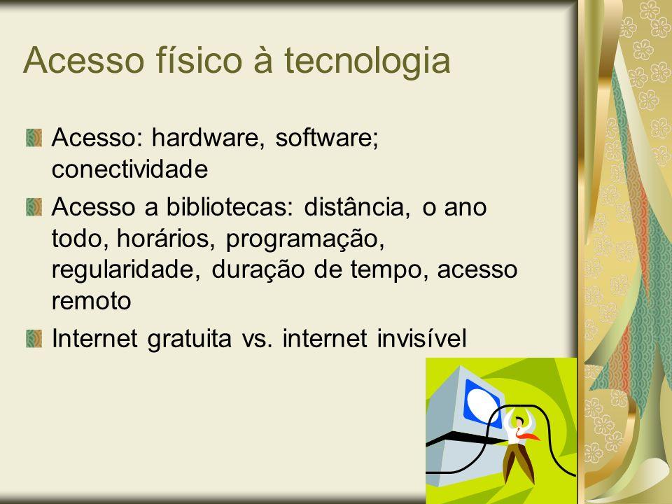 Acesso físico à tecnologia