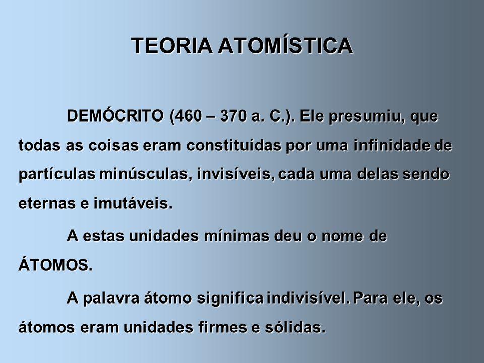 TEORIA ATOMÍSTICA