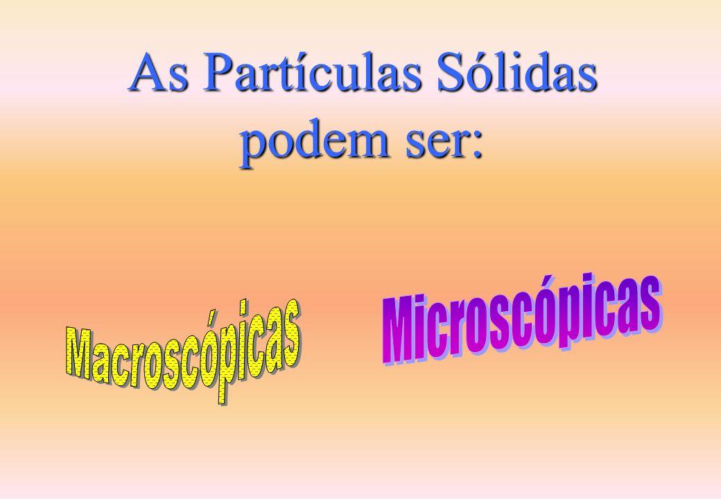 As Partículas Sólidas podem ser: