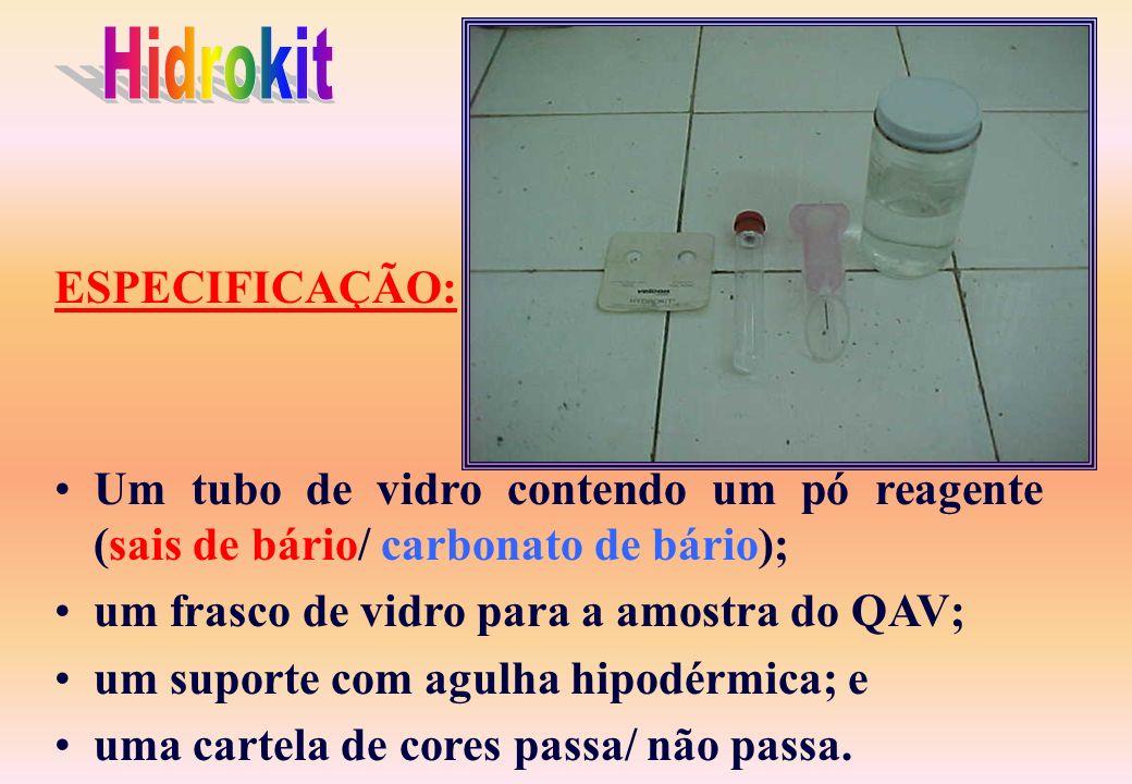Hidrokit ESPECIFICAÇÃO: