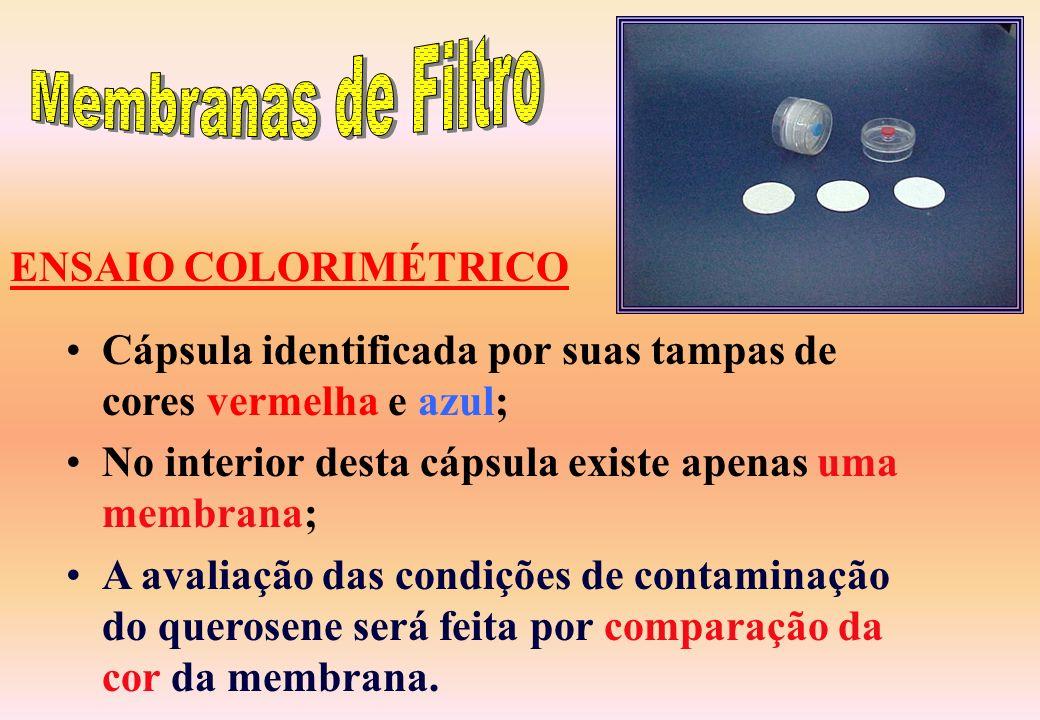 Membranas de Filtro ENSAIO COLORIMÉTRICO