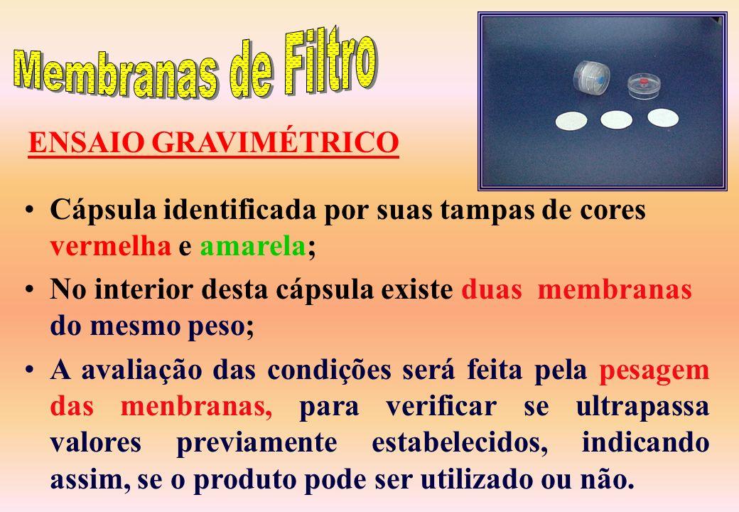 Membranas de Filtro ENSAIO GRAVIMÉTRICO