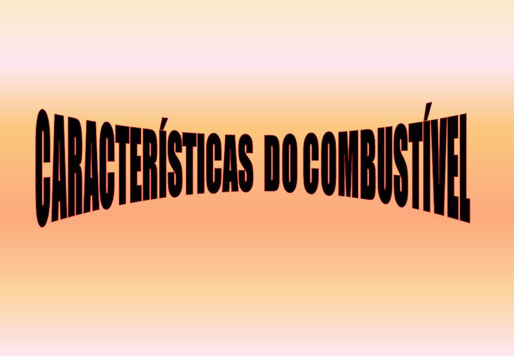 CARACTERÍSTICAS DO COMBUSTÍVEL