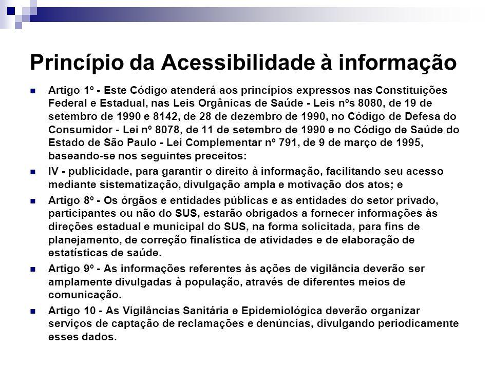 Princípio da Acessibilidade à informação