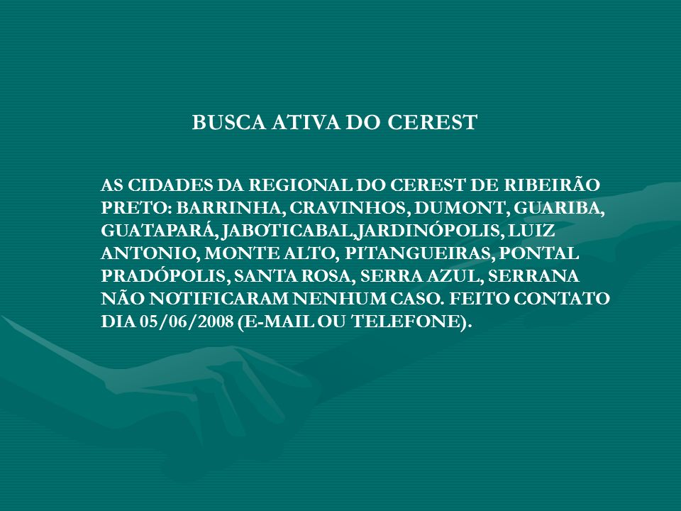 BUSCA ATIVA DO CEREST