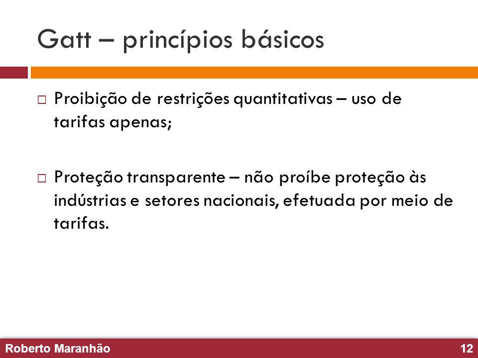Gatt – princípios básicos