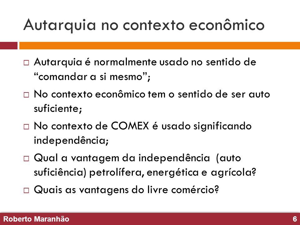 Autarquia no contexto econômico
