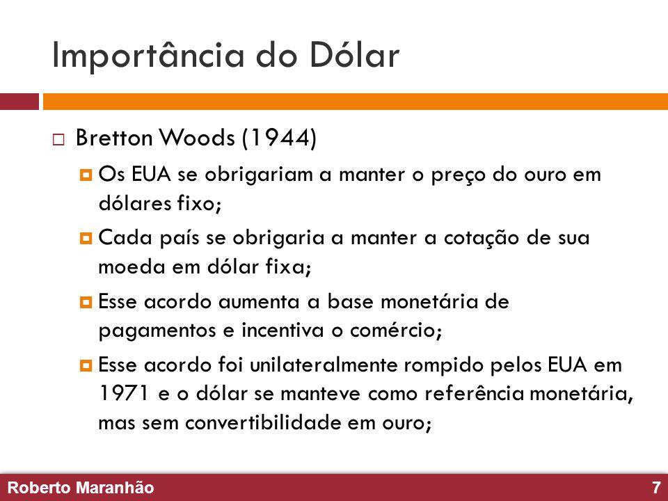 Importância do Dólar Bretton Woods (1944)