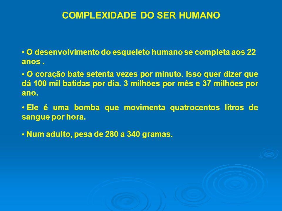 COMPLEXIDADE DO SER HUMANO