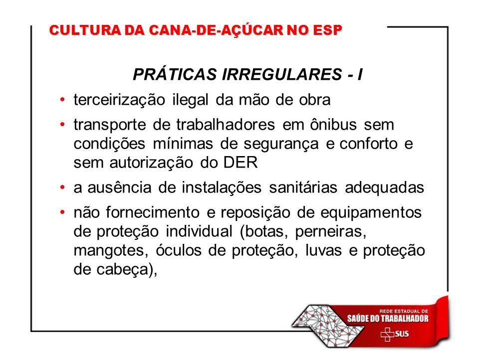 PRÁTICAS IRREGULARES - I