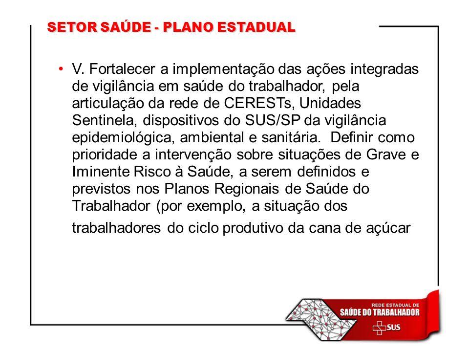 SETOR SAÚDE - PLANO ESTADUAL