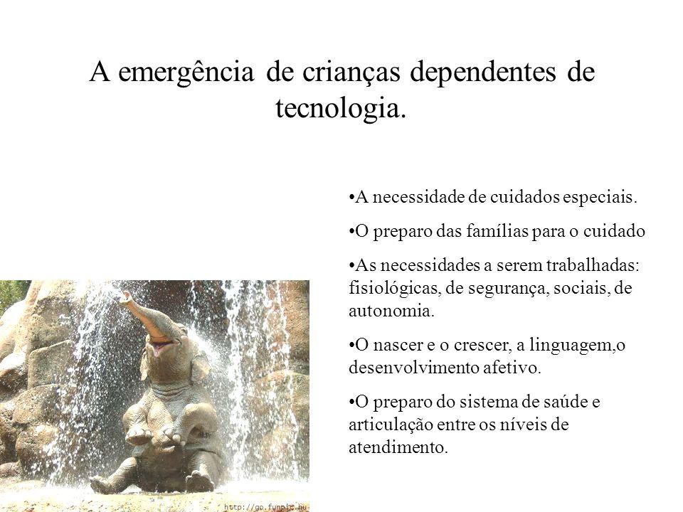 A emergência de crianças dependentes de tecnologia.