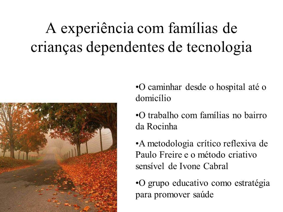 A experiência com famílias de crianças dependentes de tecnologia