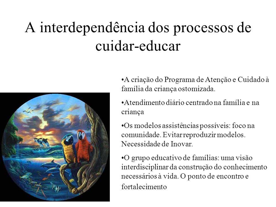 A interdependência dos processos de cuidar-educar