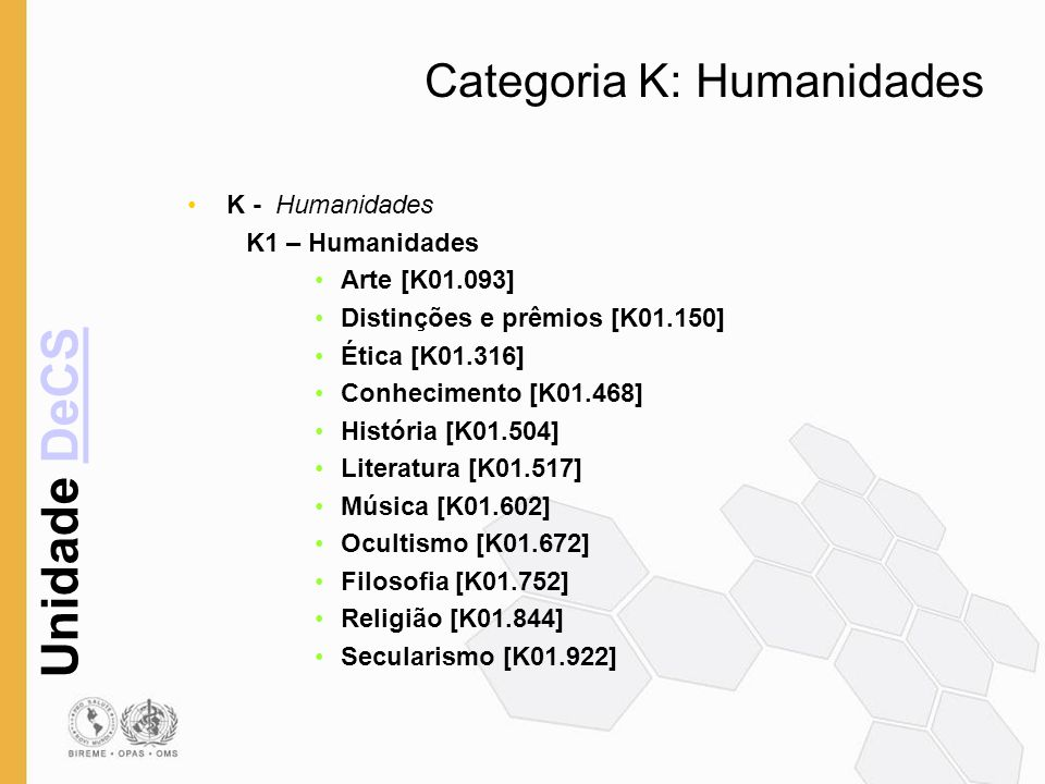 Categoria K: Humanidades
