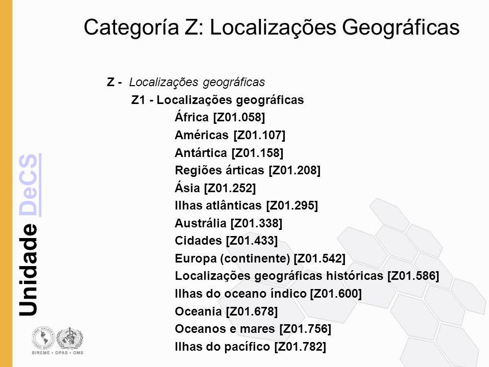 Categoría Z: Localizações Geográficas