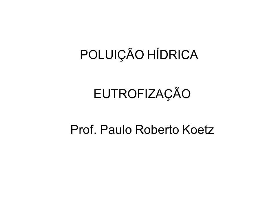 EUTROFIZAÇÃO Prof. Paulo Roberto Koetz
