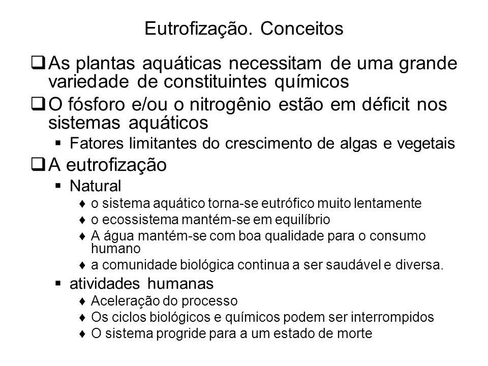 Eutrofização. Conceitos