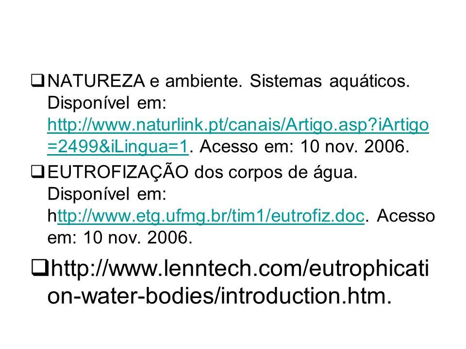 NATUREZA e ambiente. Sistemas aquáticos. Disponível em: http://www