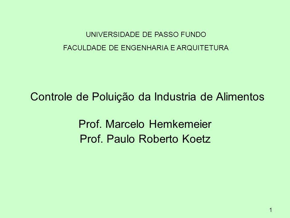 Controle de Poluição da Industria de Alimentos