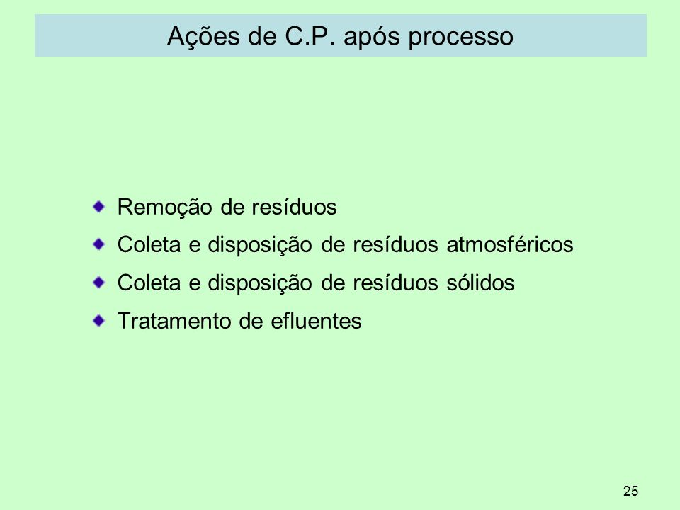 Ações de C.P. após processo