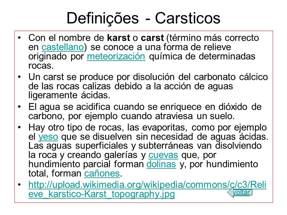 Definições - Carsticos
