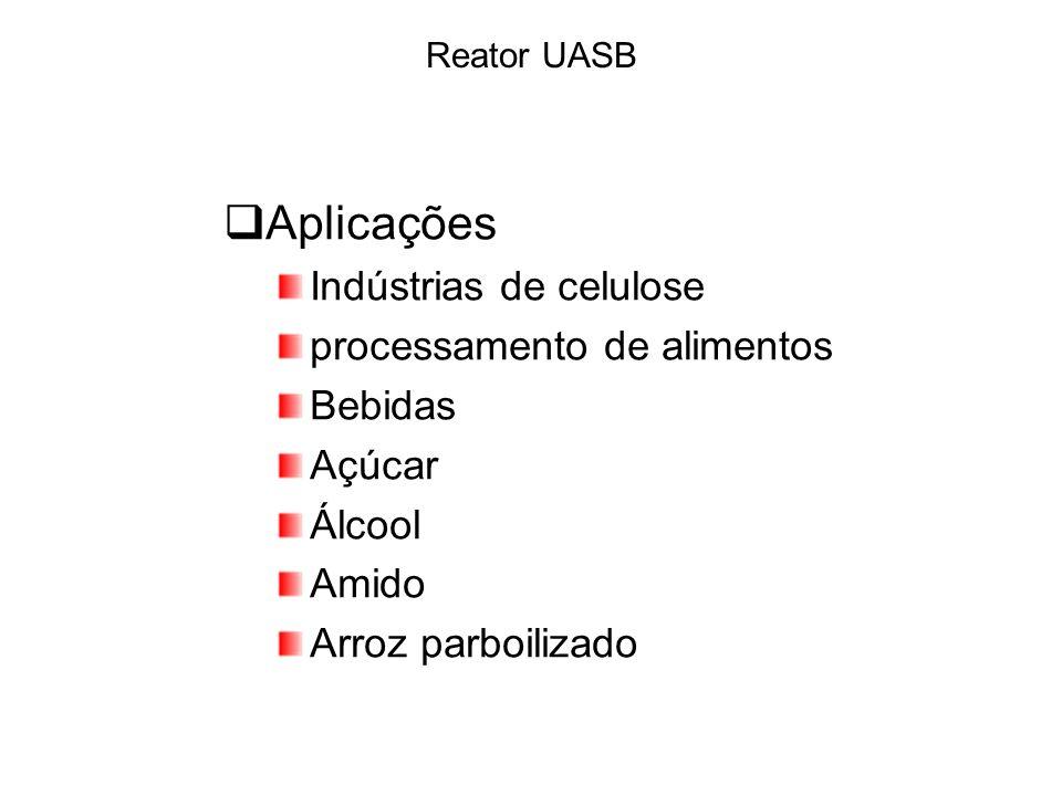 Aplicações Indústrias de celulose processamento de alimentos Bebidas