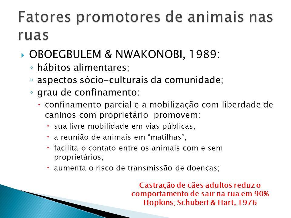 Fatores promotores de animais nas ruas