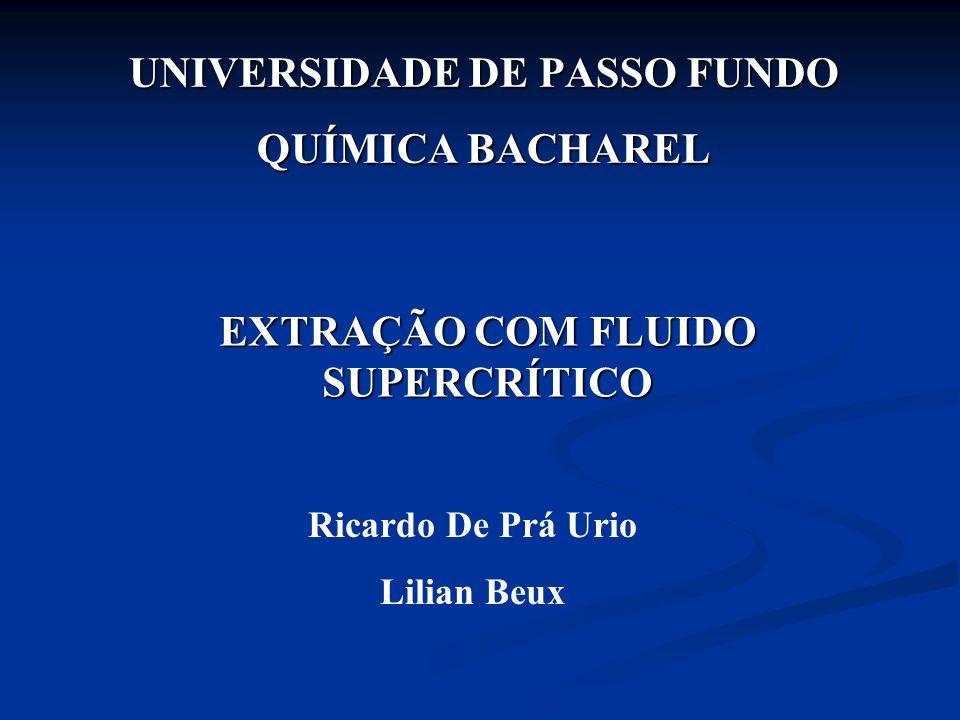 UNIVERSIDADE DE PASSO FUNDO QUÍMICA BACHAREL