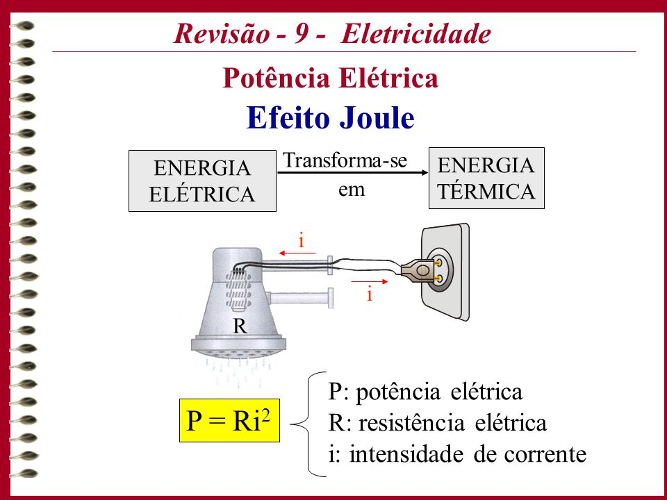 Formulas de fisica energia eletrica