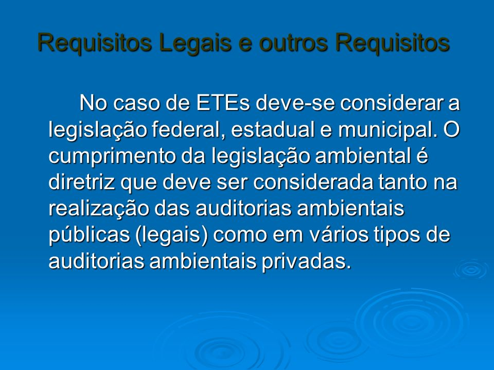 Requisitos Legais e outros Requisitos