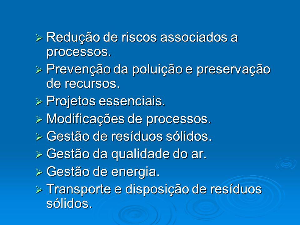 Redução de riscos associados a processos.