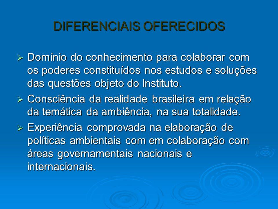 DIFERENCIAIS OFERECIDOS