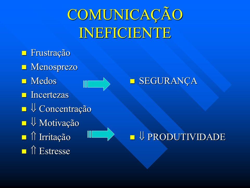 COMUNICAÇÃO INEFICIENTE