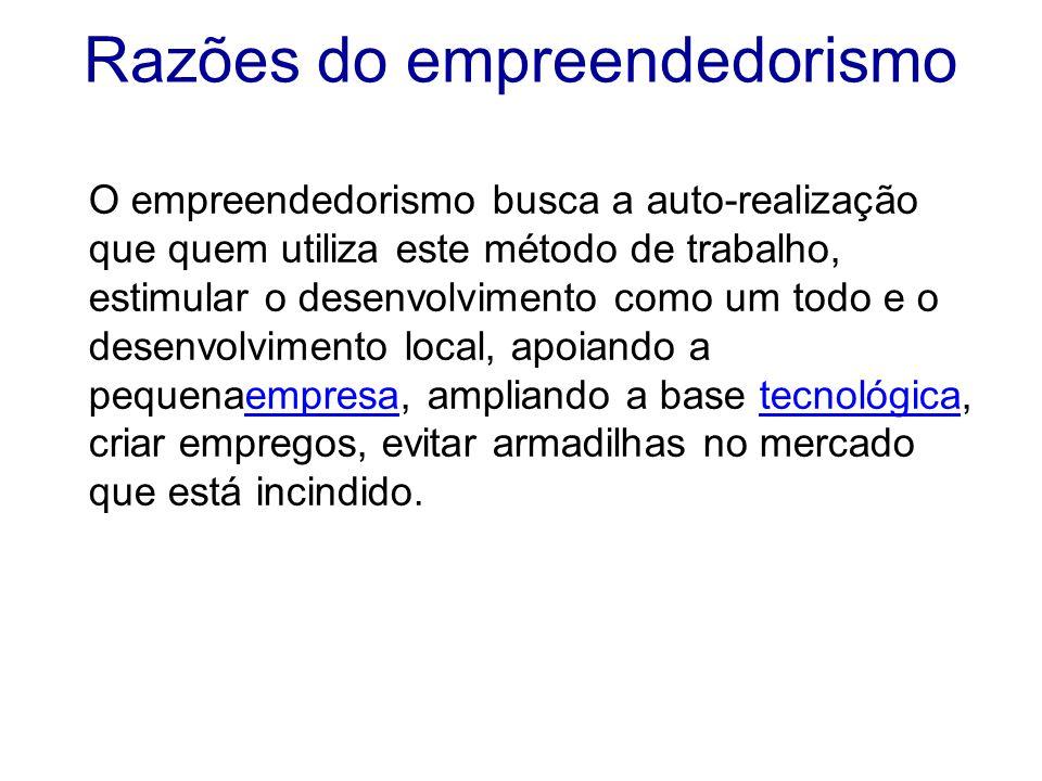 Razões do empreendedorismo