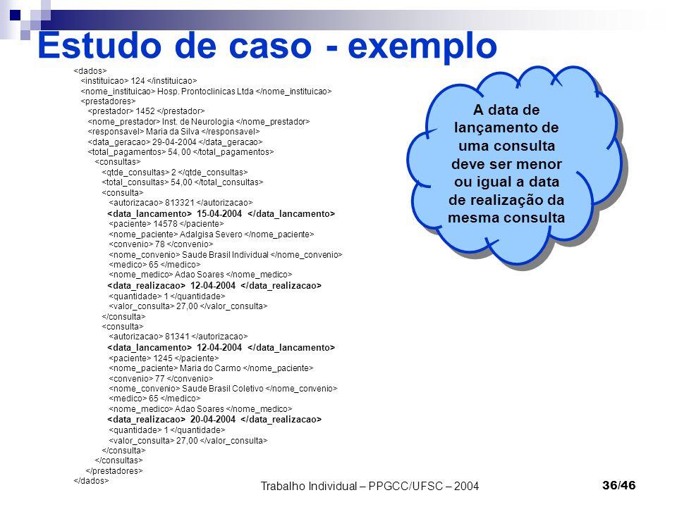 Estudo de caso - exemplo