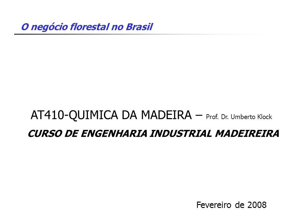 AT410-QUIMICA DA MADEIRA – Prof. Dr. Umberto Klock