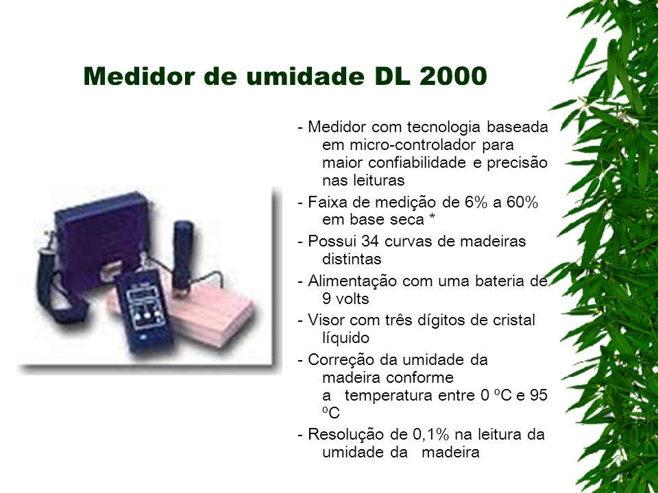 Medidor de umidade DL 2000 - Medidor com tecnologia baseada em micro-controlador para maior confiabilidade e precisão nas leituras.