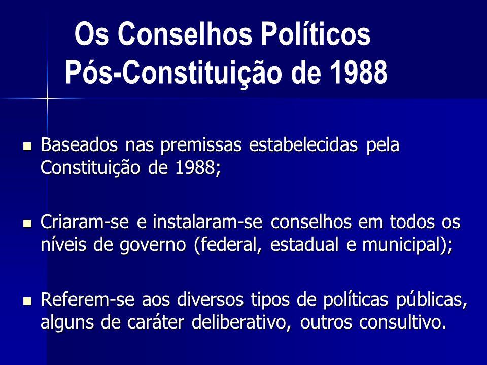 Os Conselhos Políticos