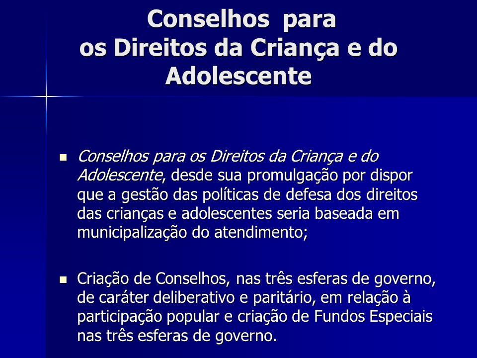 Conselhos para os Direitos da Criança e do Adolescente